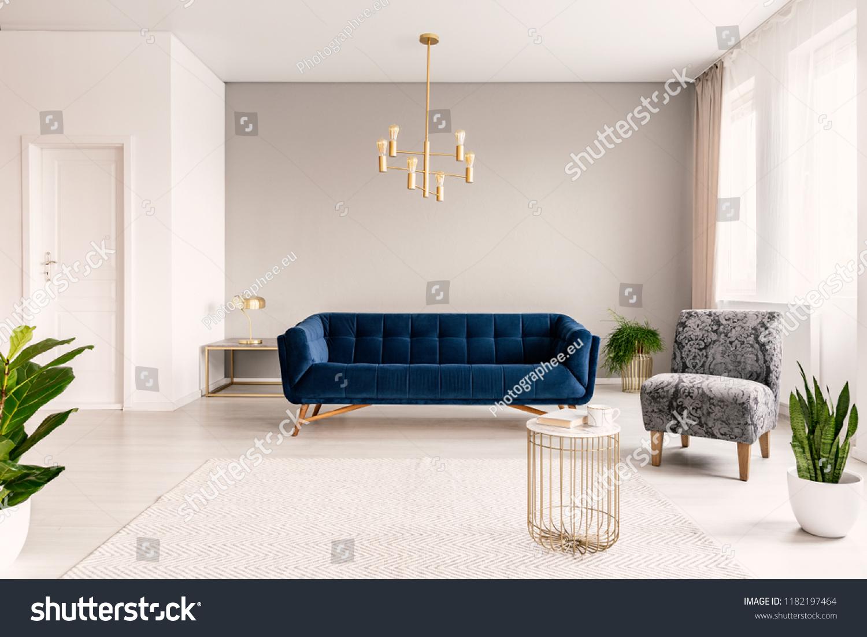 Copy Space Living Room Interior Dark Stock Photo Edit Now 1182197464
