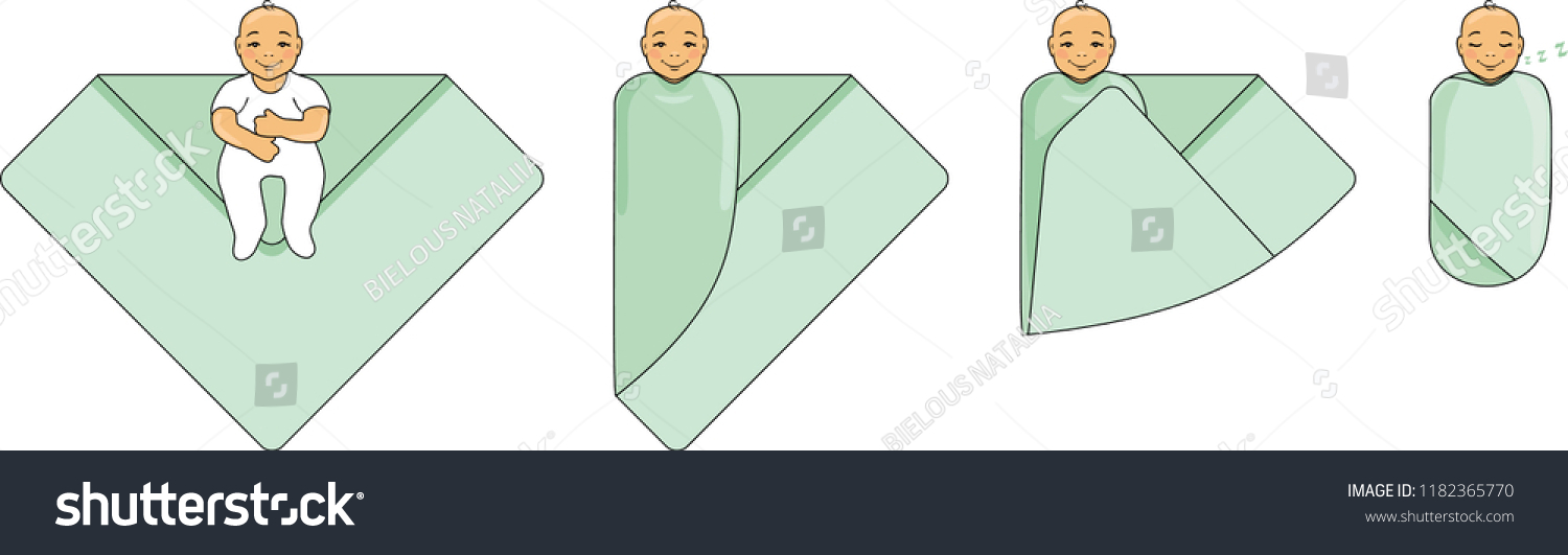 Swaddle Baby Instructions Use Vector Stock Vector Royalty Free