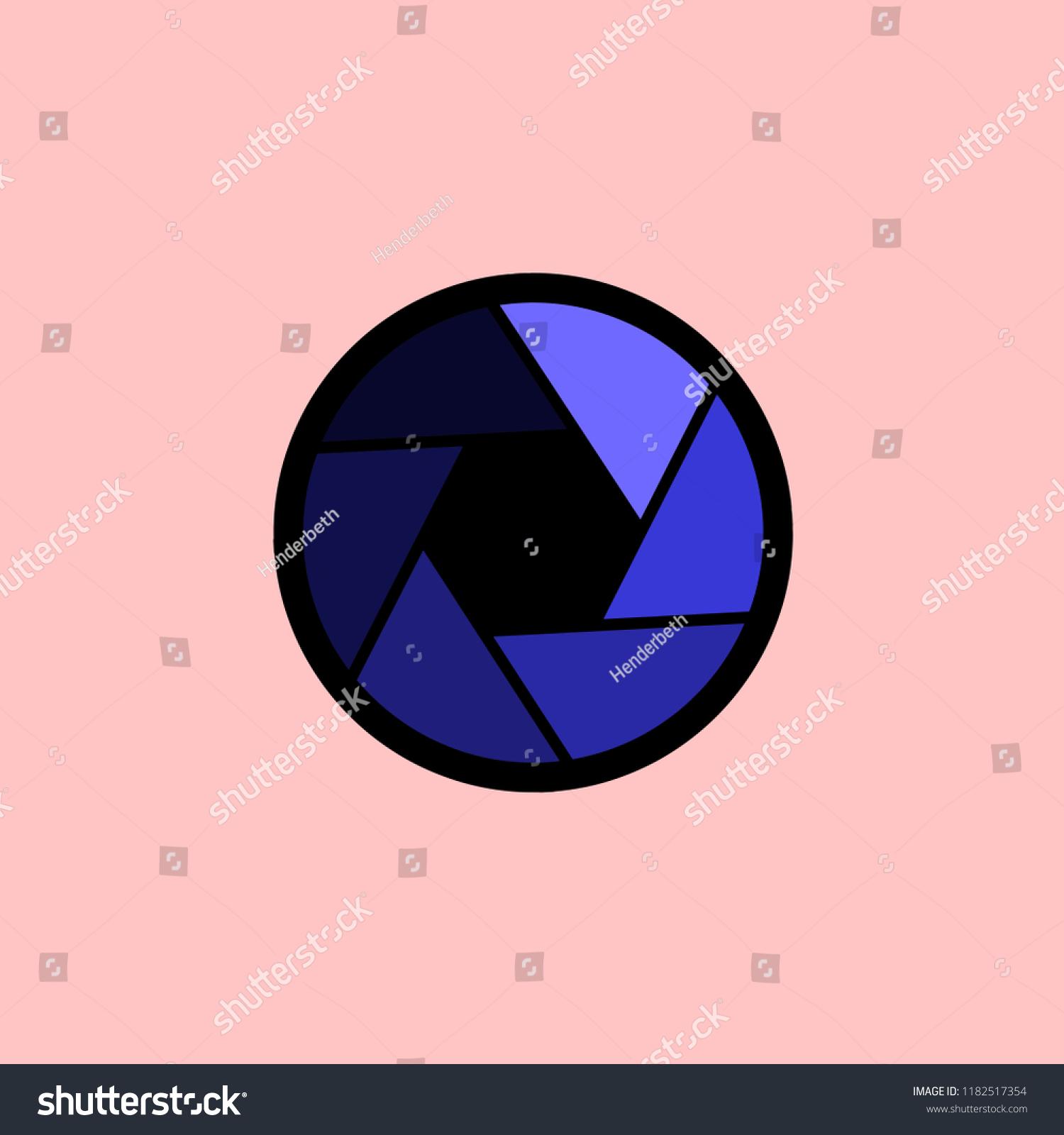 Shutter Icon Flat Style Illustration Vector Stock Vector