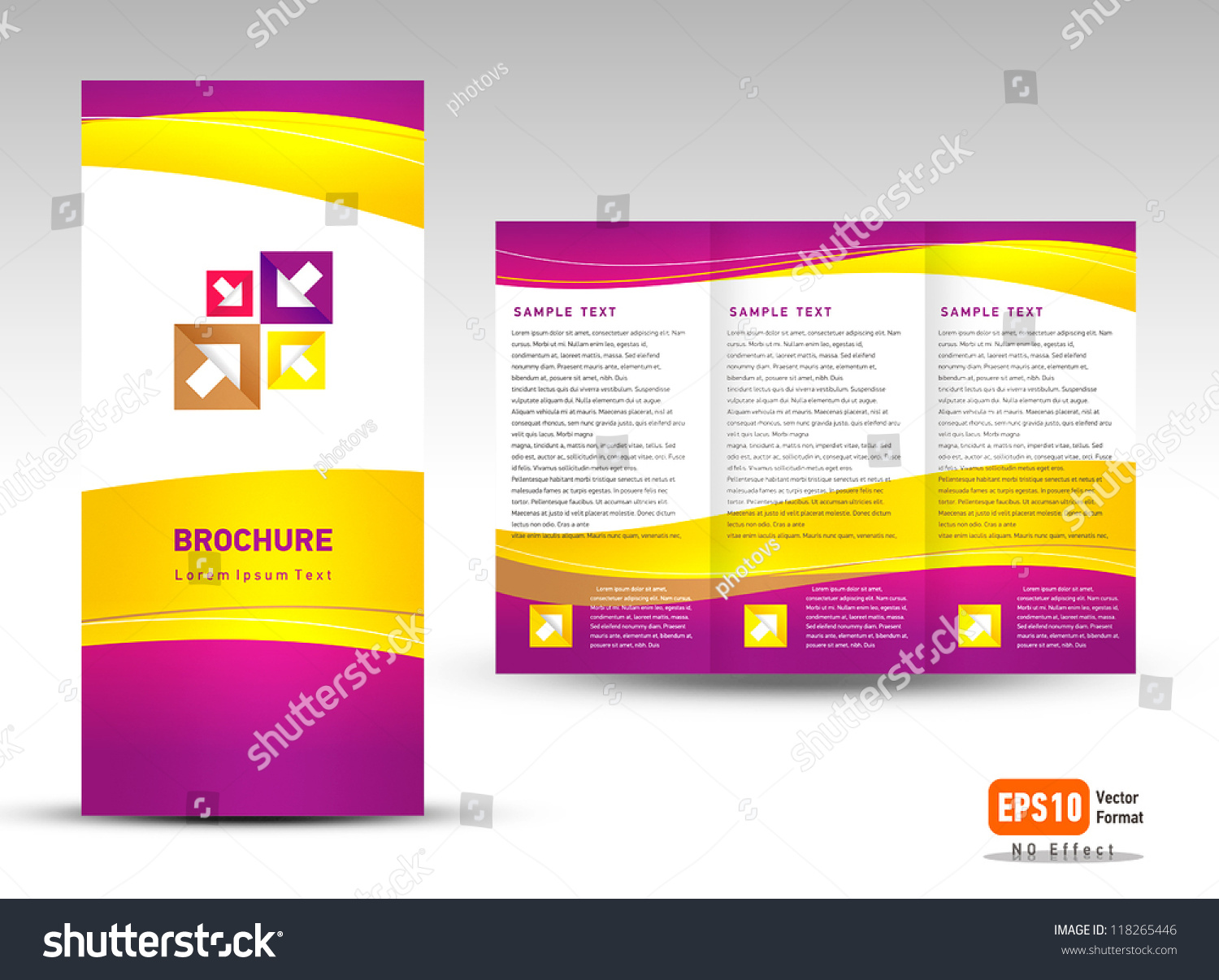Vector Brochure Trifold Layout Design Template Stock Vector ...