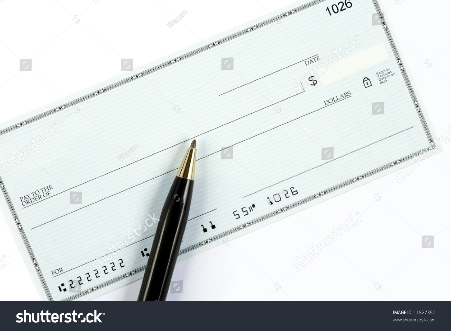 blank check ballpoint pen account routing stock photo 11827390, Powerpoint templates