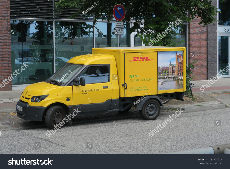Hamburg Germany 07232018 Electric Car Deutsche Stock Photo