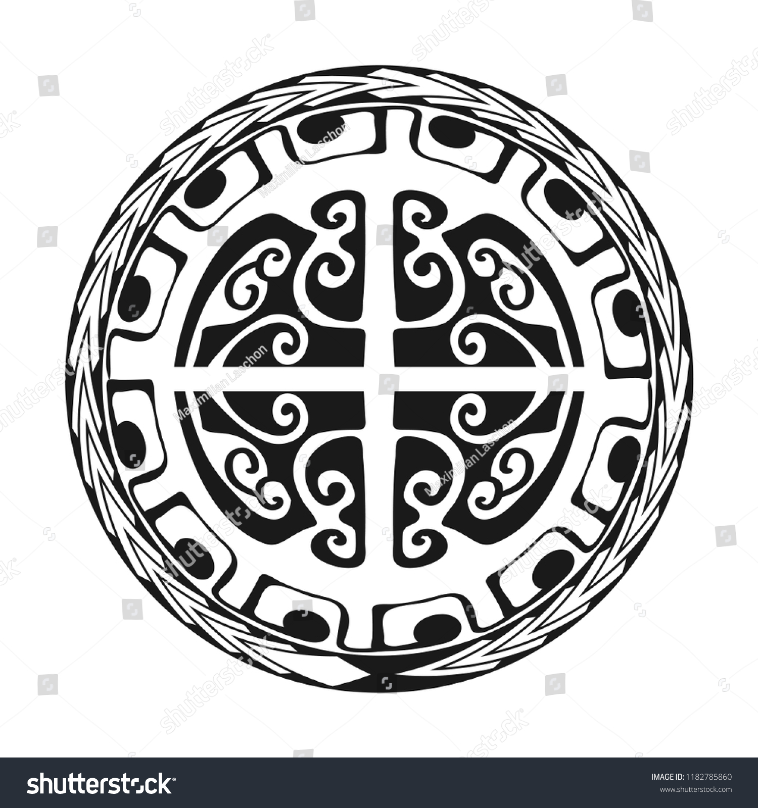 6fa14f044 Maori / Polynesian Tattoo Style Ornament - Ready for Print and used for  Stencyl as Custom.