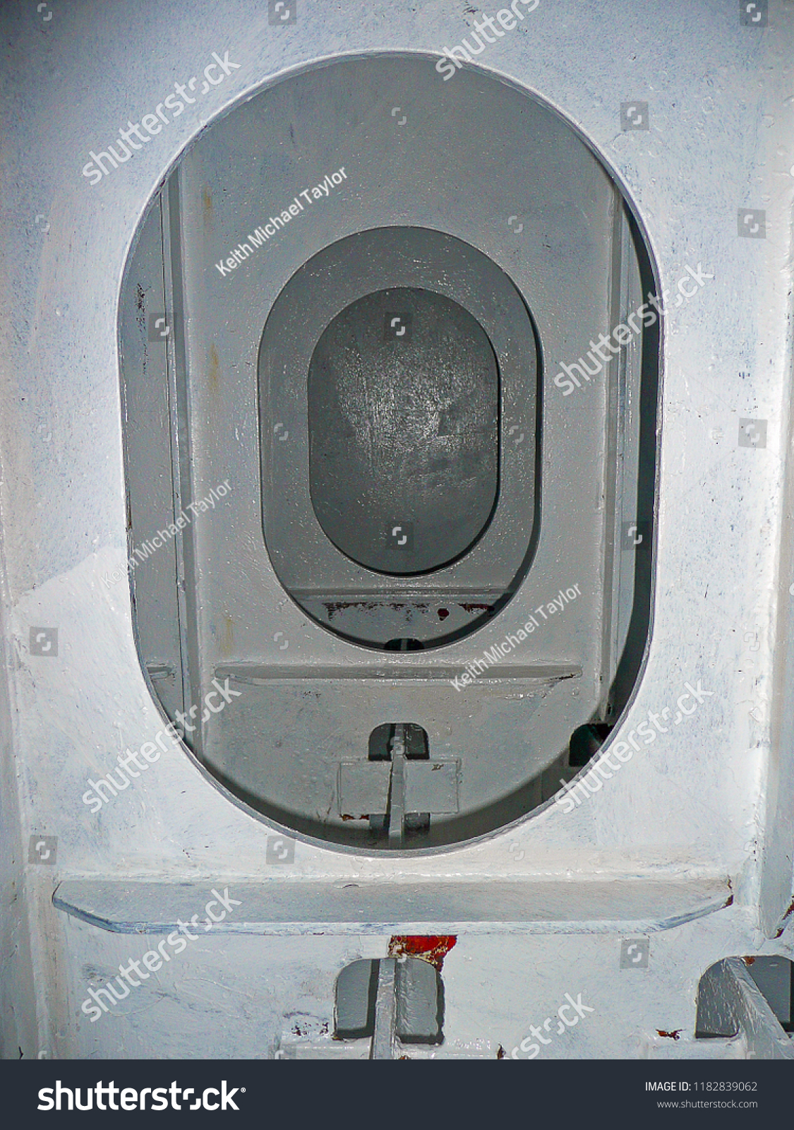 Double bottom tank on a small passenger ship. The tank is stiffened with  vertical webs