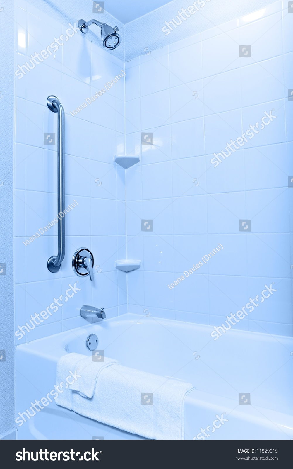 Handicapped Senioraccessible Tub Shower Modern Apartment Stock Photo ...