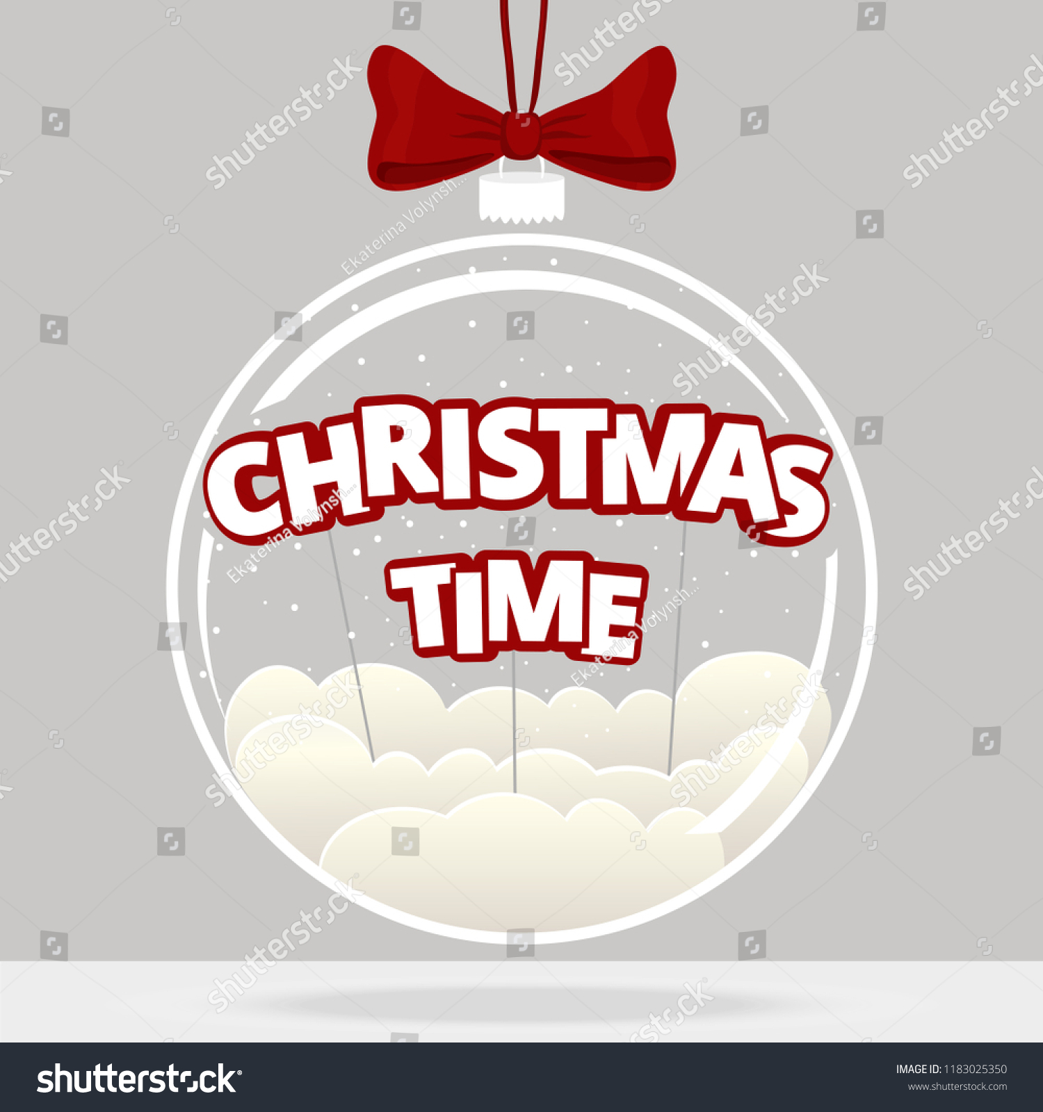 Christmas Ball Quote Christmas Time Transparent Stock Vector ...