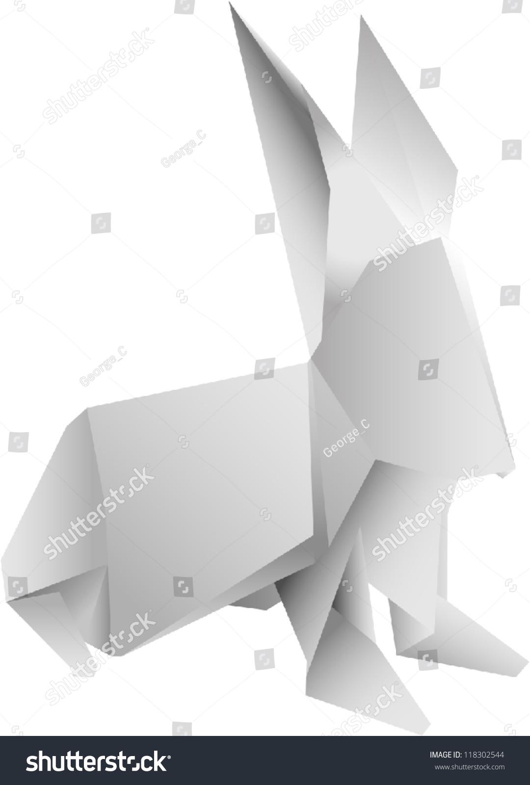 Origami Rabbit Vector Stock Vector HD Royalty Free 118302544