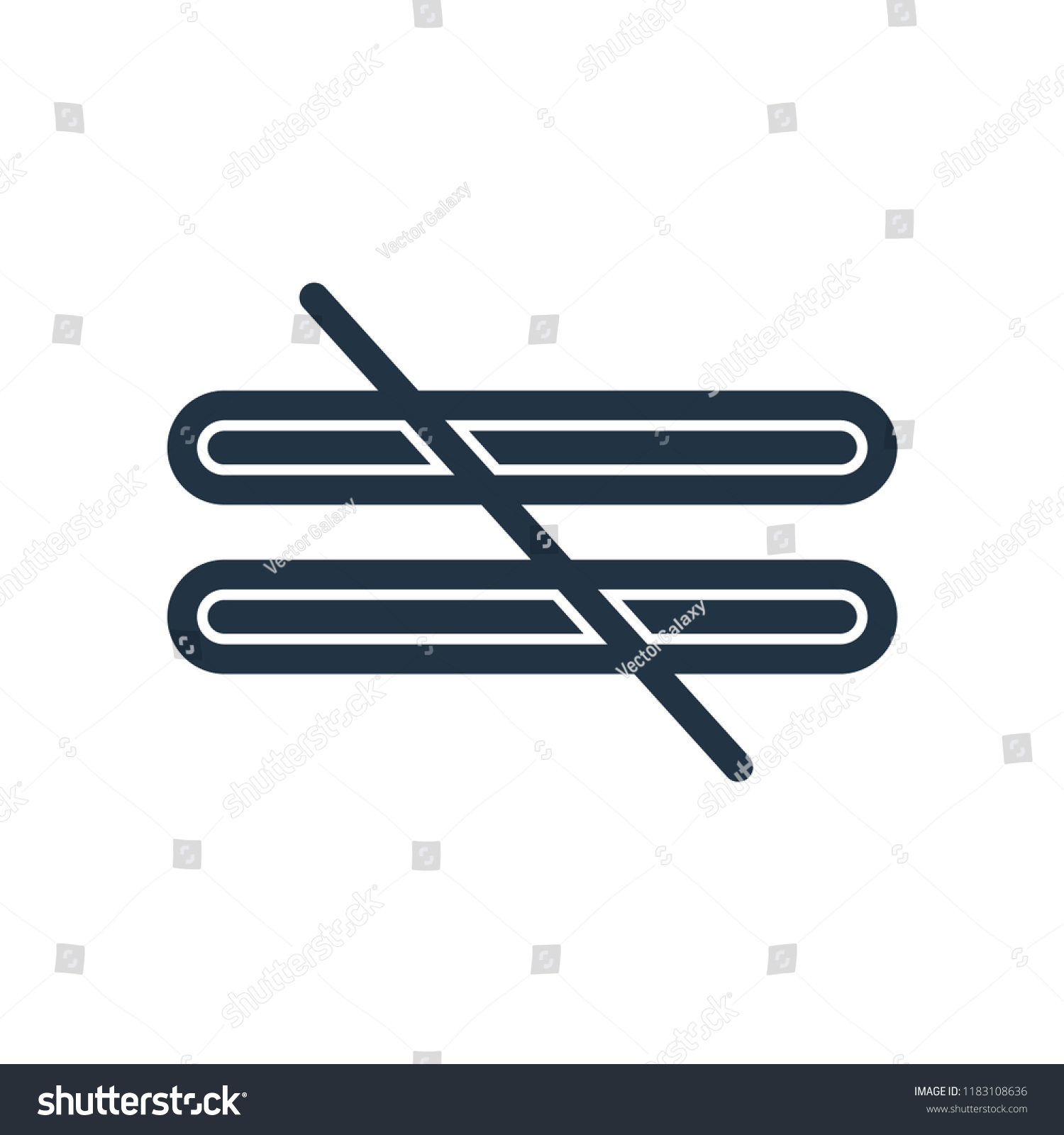 Not Equal Symbol Icon Vector Isolated Stock Vector Royalty Free