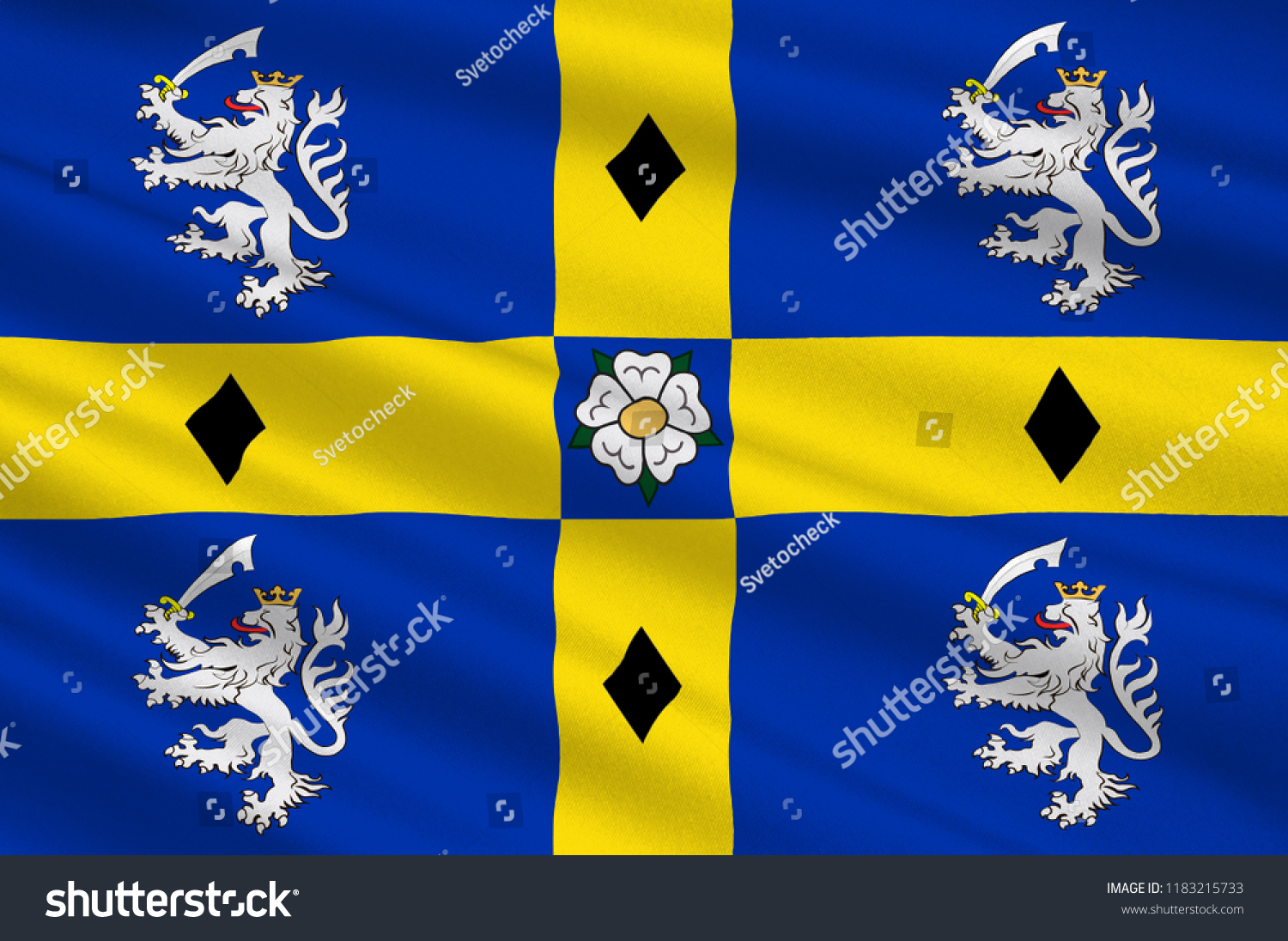 Flag Durham County North East England Stock Illustration 1183215733