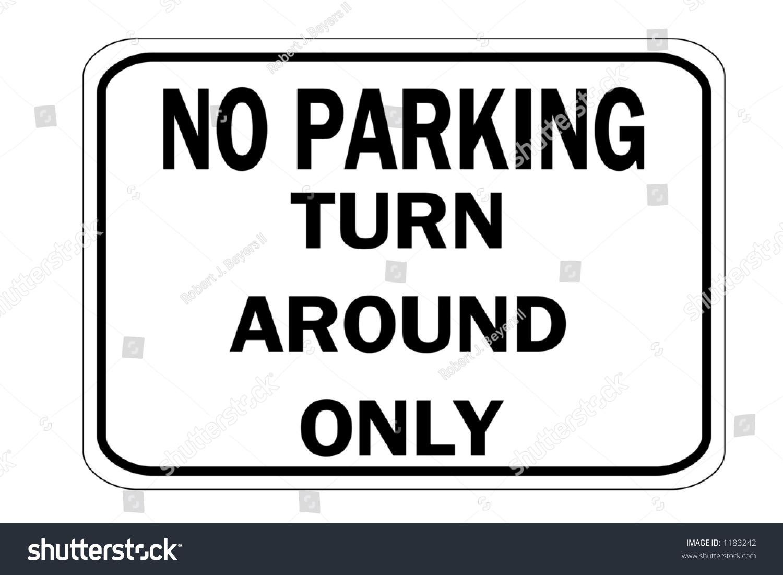 Turn around Sign Clip Art