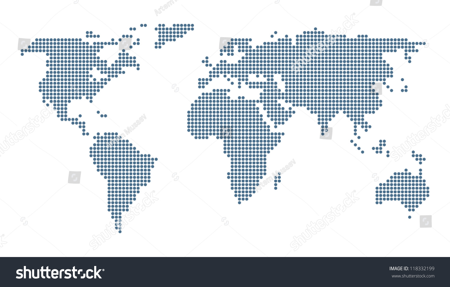 Dotted world map isolated on white stock photo photo vector dotted world map isolated on white vector image gumiabroncs Image collections