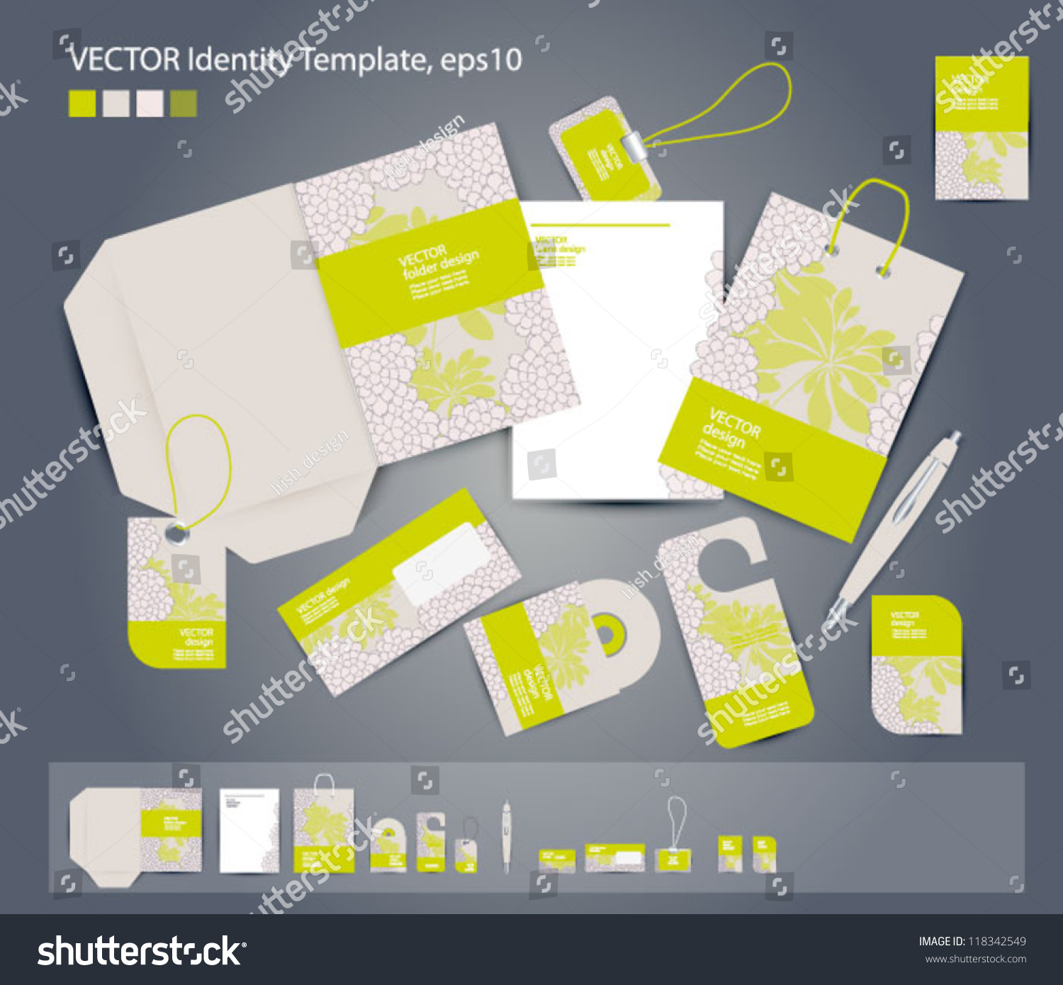 Vector Corporate Design Business Folder Business Stock Vector ...