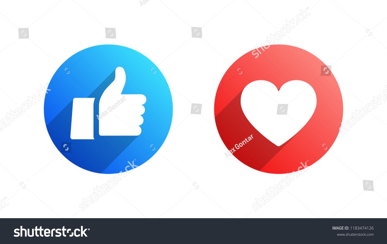 Facebook Like Heart Vector Modern Icons Stock Vector Royalty Free