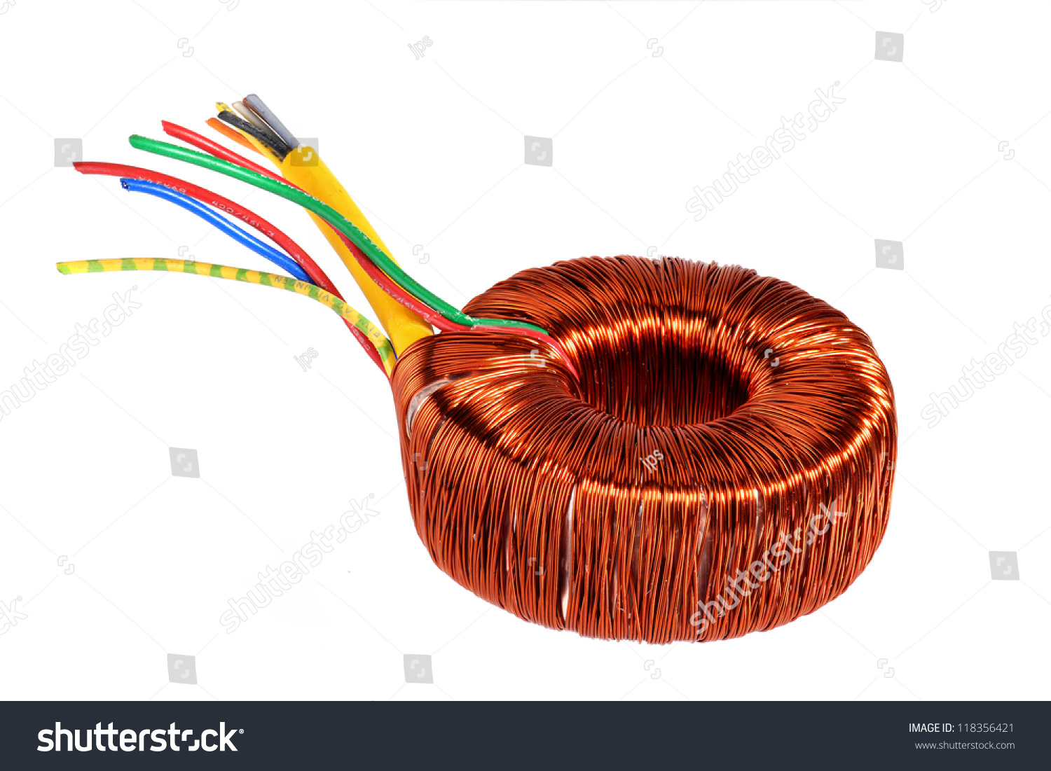 Ring Core Transformer Copper Coil Stock Photo (Edit Now) 118356421 ...