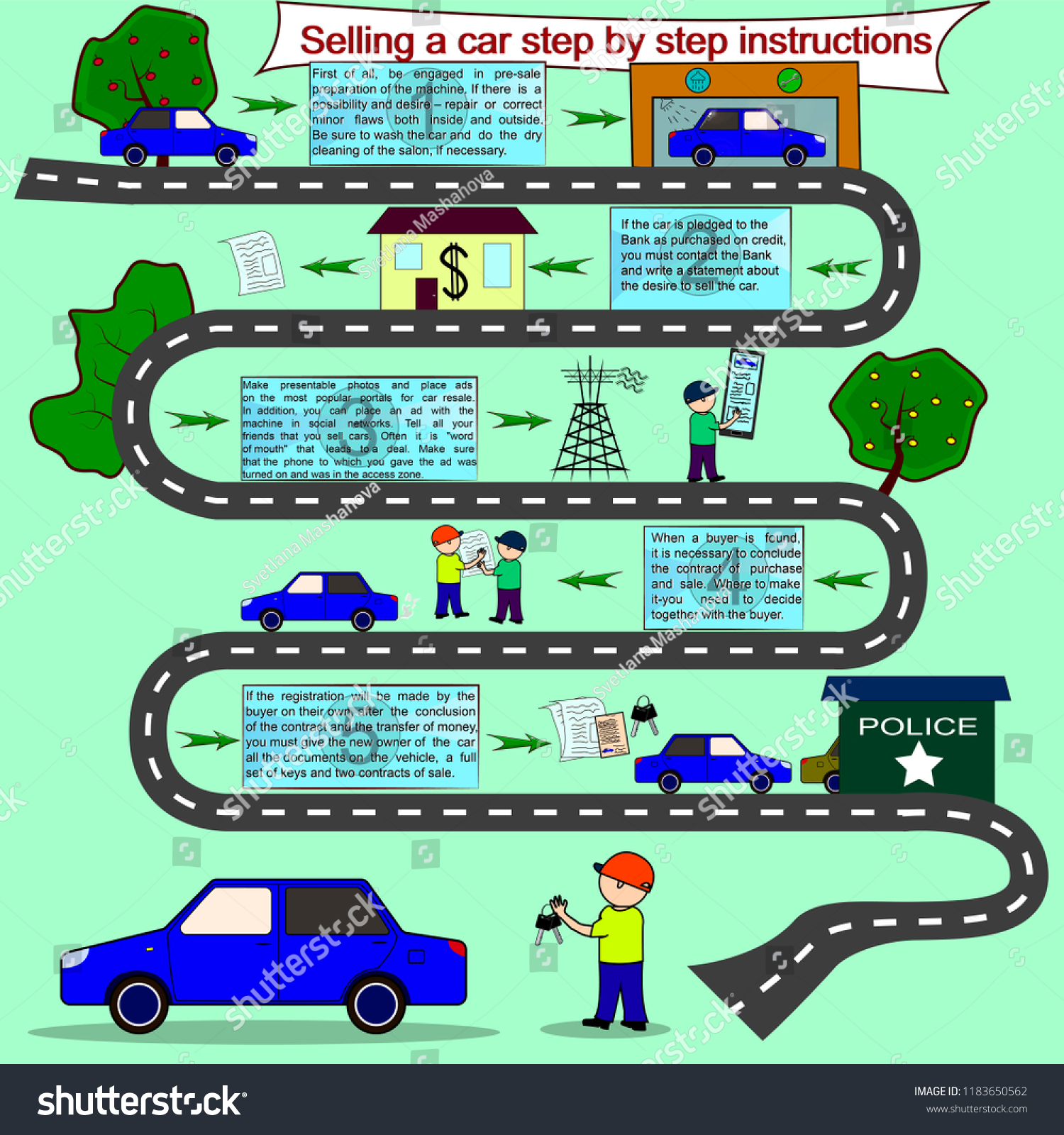 car auto service template infographic business stock vector royalty
