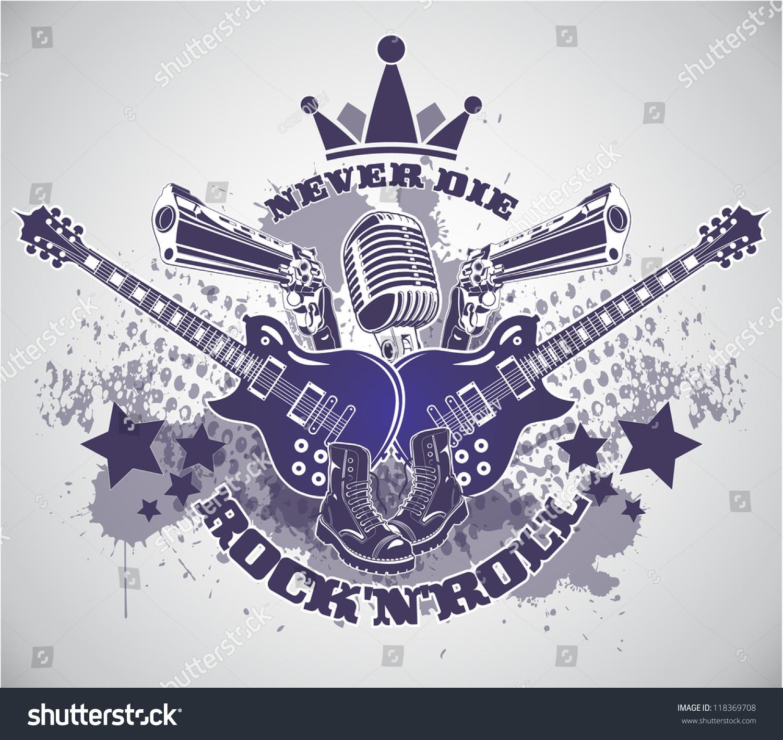 Rock n roll symbol stock vector 118369708 shutterstock rock n roll symbol buycottarizona