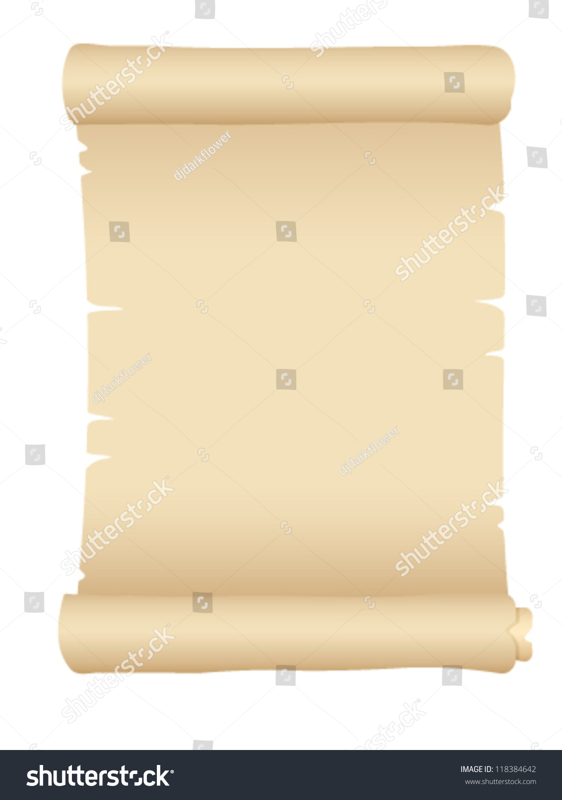 old blank scroll paper vector illustration stock vector 118384642, Powerpoint templates