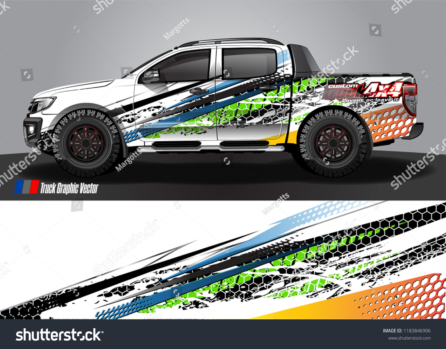 Truck decal wrap design vector abstract racing graphic stripe background kit for vehicle vinyl