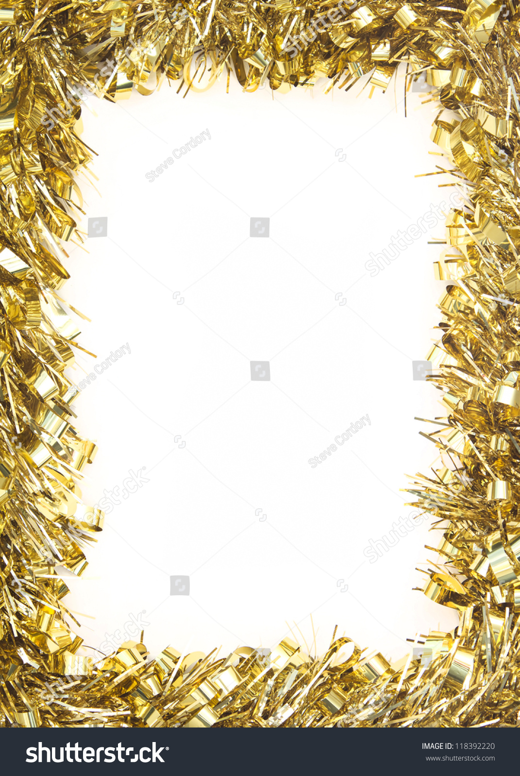 Best christmas background border with gold