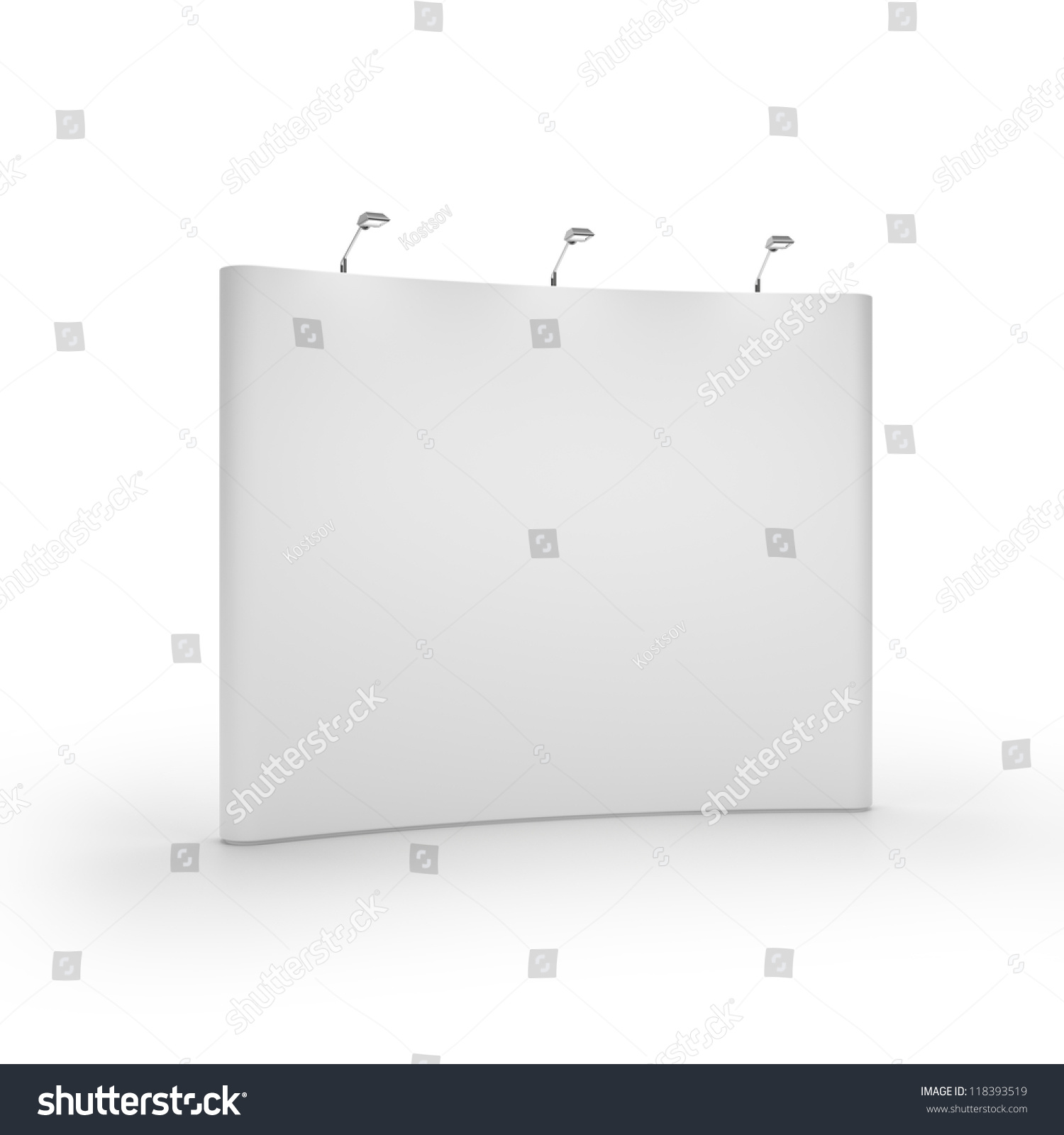 Exhibition Booth Blank : White blank trade show booth stock illustration
