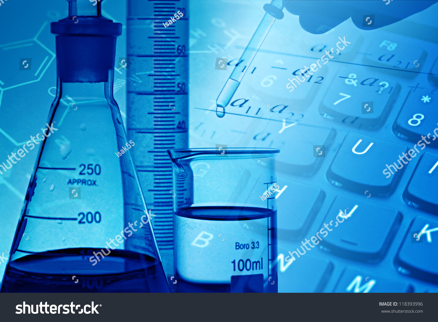 Modern Laboratory Science Background Stock Photo 118393996 ...