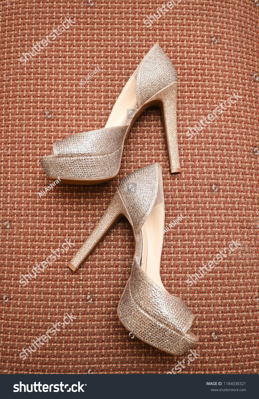 aec864a3332df5 Elegant Pakistani Indian Bridal High Heels Stock Photo (Edit Now ...