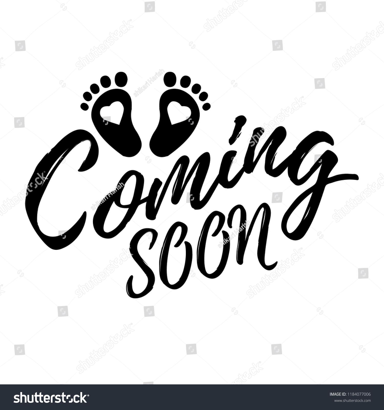 Vetor Stock De Baby Coming Soon Vector Text Livre De Direitos 1184077006