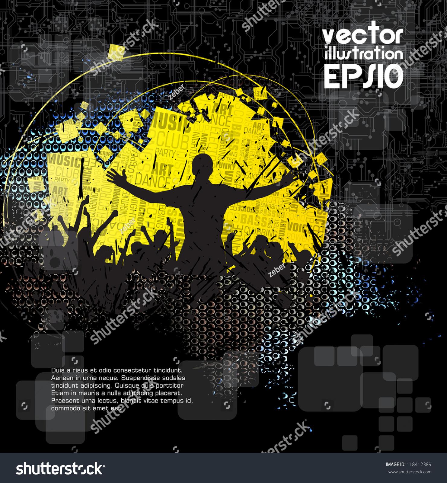 Music Event Background Vector Eps10 Illustration Ez Canvas