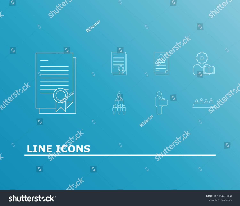 Occupation Icon Set Businessman Job Application Stock Vector