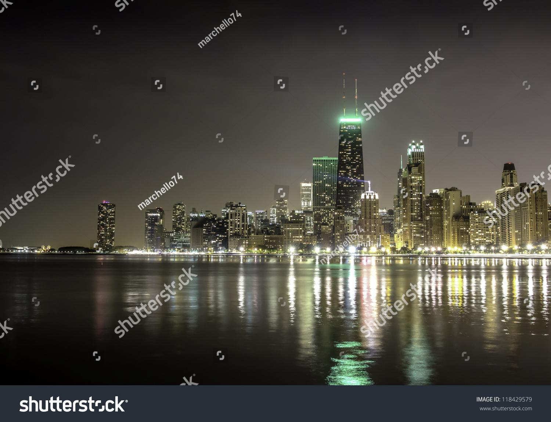 night skyline view of - photo #15