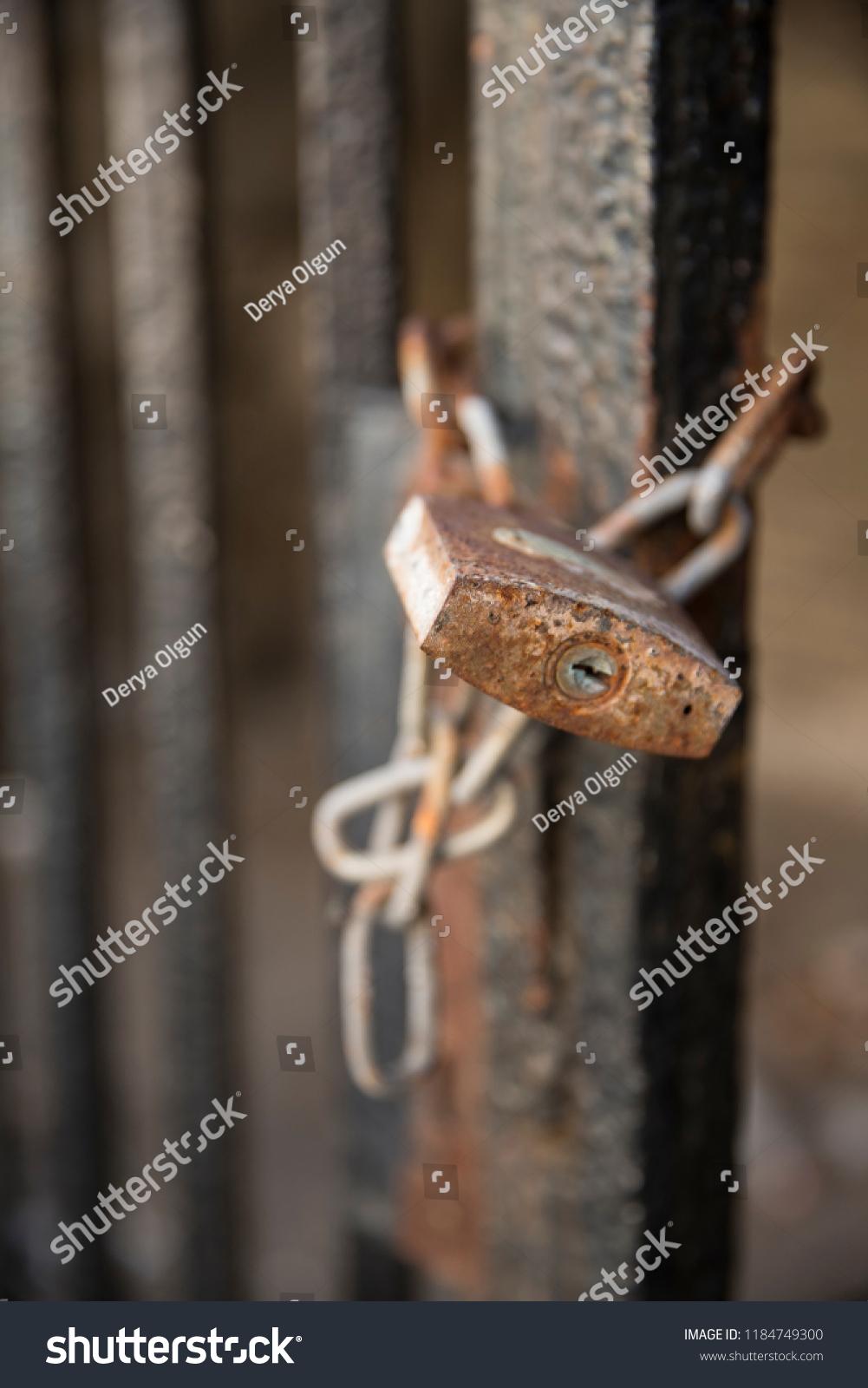 Locked Door Security Stock Photo Edit Now 1184749300 Shutterstock