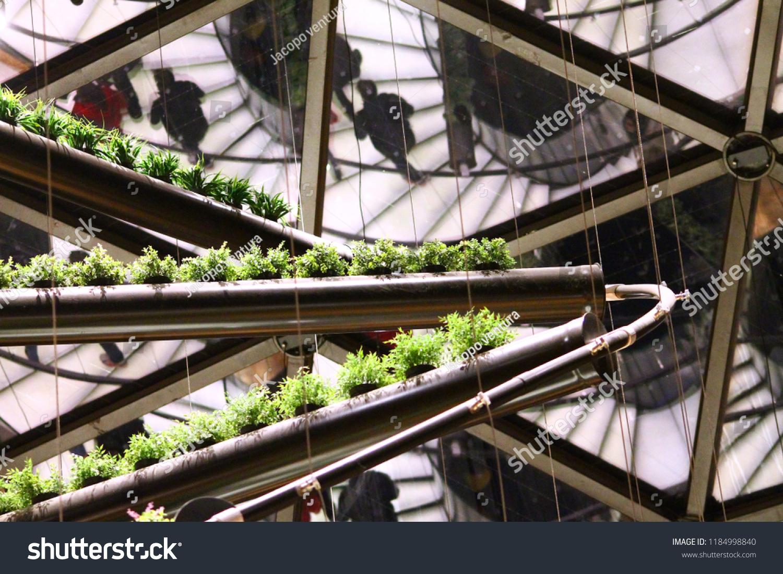Milan, Italy, October 28 2015: Belgian Pavilion interior in Expo Milano 2015 #1184998840
