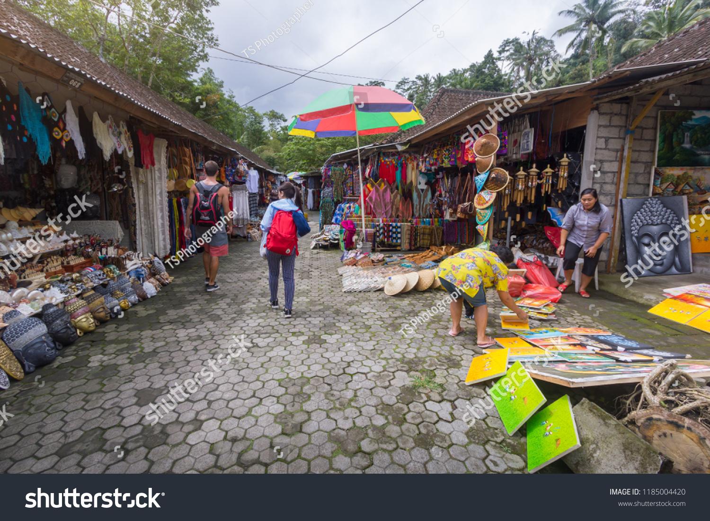 Bali Indonesia Aug 2018 Balinese Handicrafts Souvenir Stock Photo