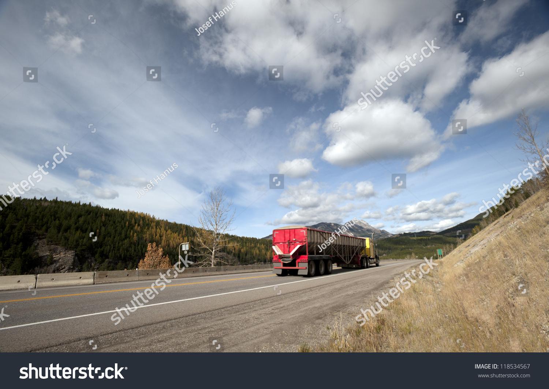 Crowsnest Pass (Highway #3) In Alberta-British Columbia ...