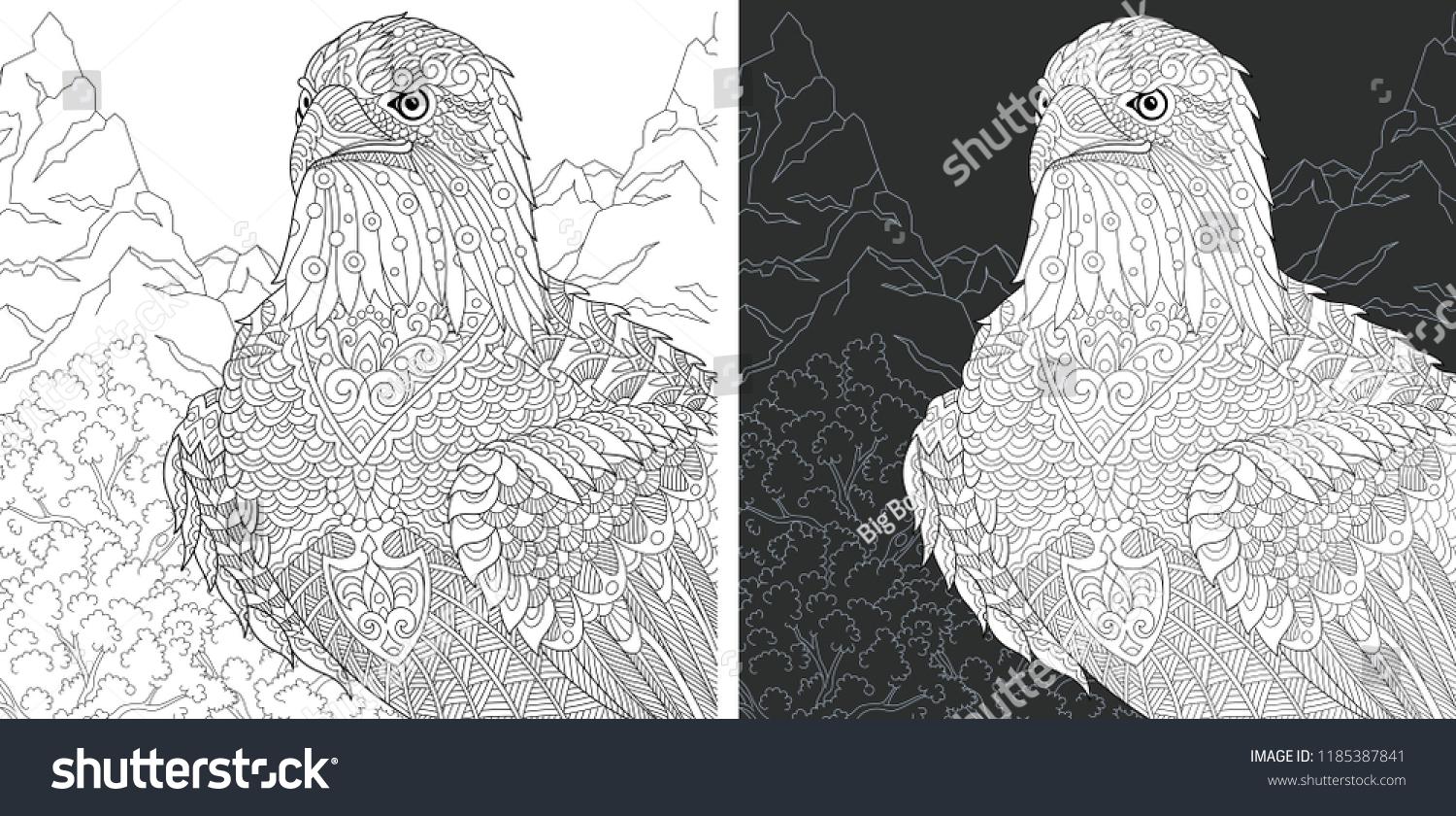 Bald Eagle Coloring Page for Kids | Eagle painting, Eagle art ... | 840x1500