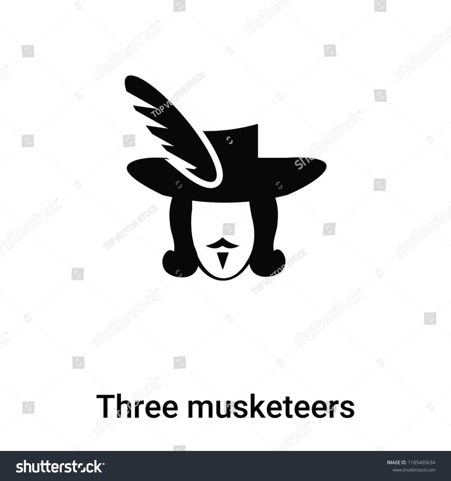 Three Musketeers Icon Vector Isolated On Stock Vector Royalty Free