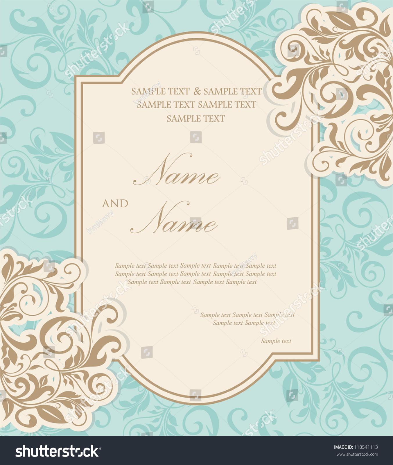 Beautiful Wedding Invitation Card Stock Vector ...