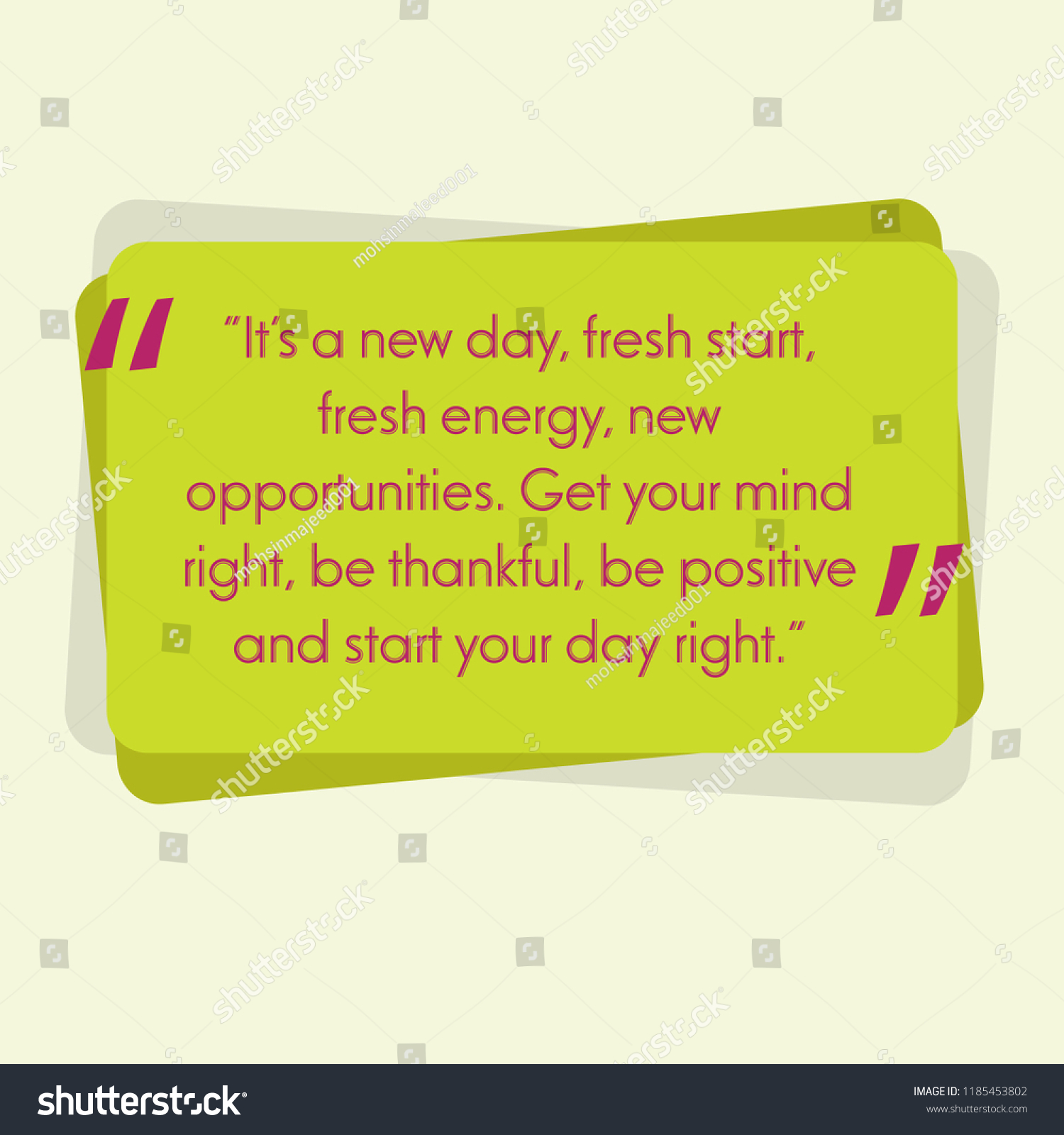 Motivational Quotes Everyday Stock Vector Royalty Free 1185453802