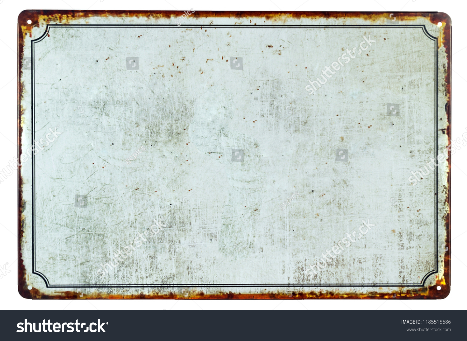 A old blank rusty metal sign with a copy space background for your text #1185515686