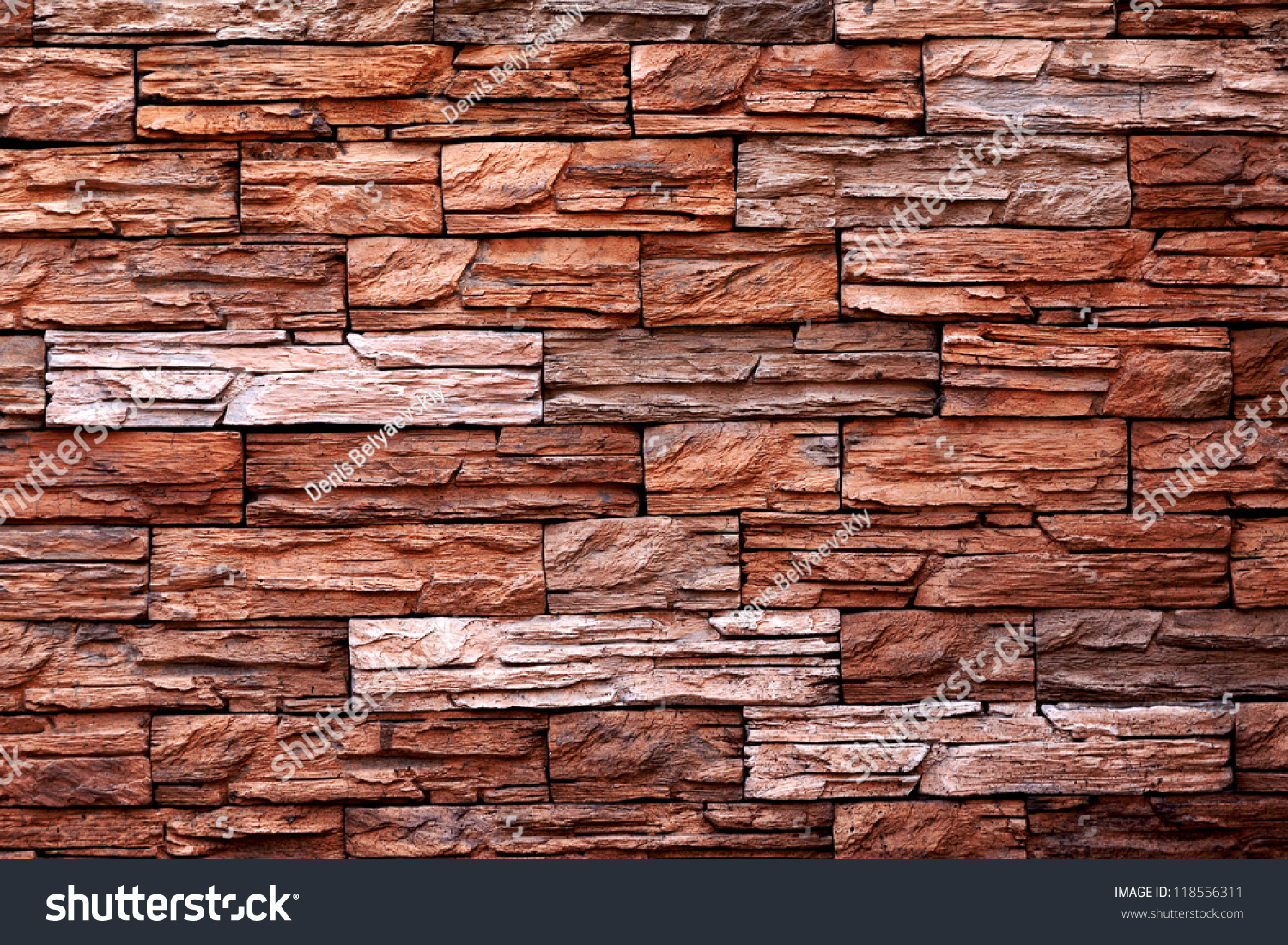 Red Stone Texture : The texture of red stone wall stock photo