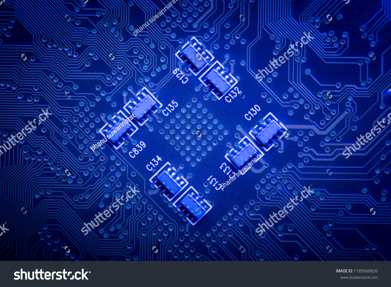 Electronic Circuit Board Background Close Stock Photo Edit Now Up