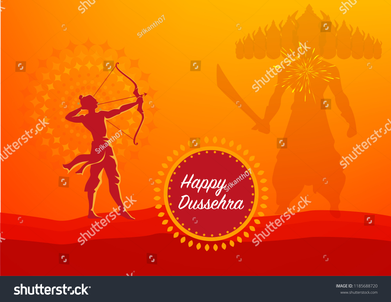 Vijayadashami also known as Dasara, Dusshera or Dussehra is a major Hindu festival celebrated at the end of Navratri every year 2018 #1185688720