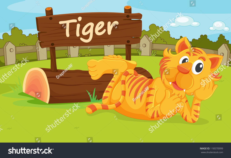 Illustration Animal Enclosure Zoo Stockillustratie