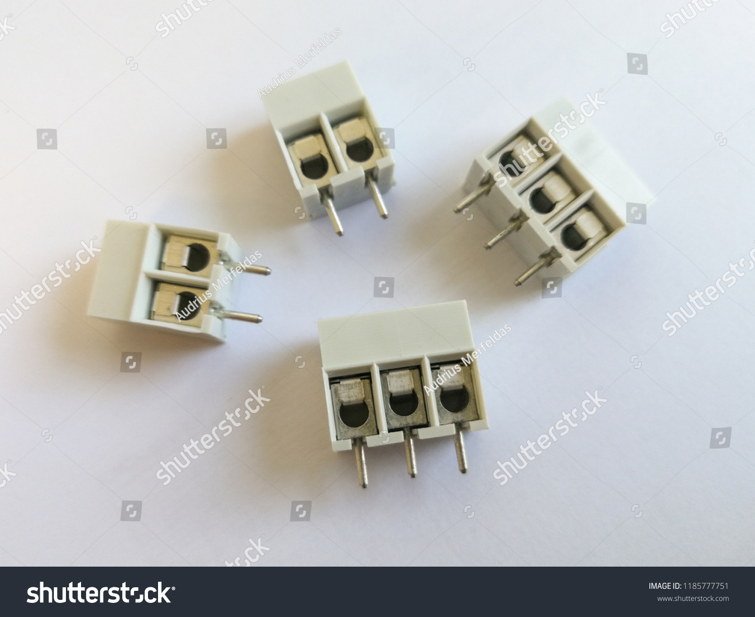 Terminal Block Through Hole Technology Pcb Stock Photo Edit Now Printed Circuit Board Throughhole Assembly For