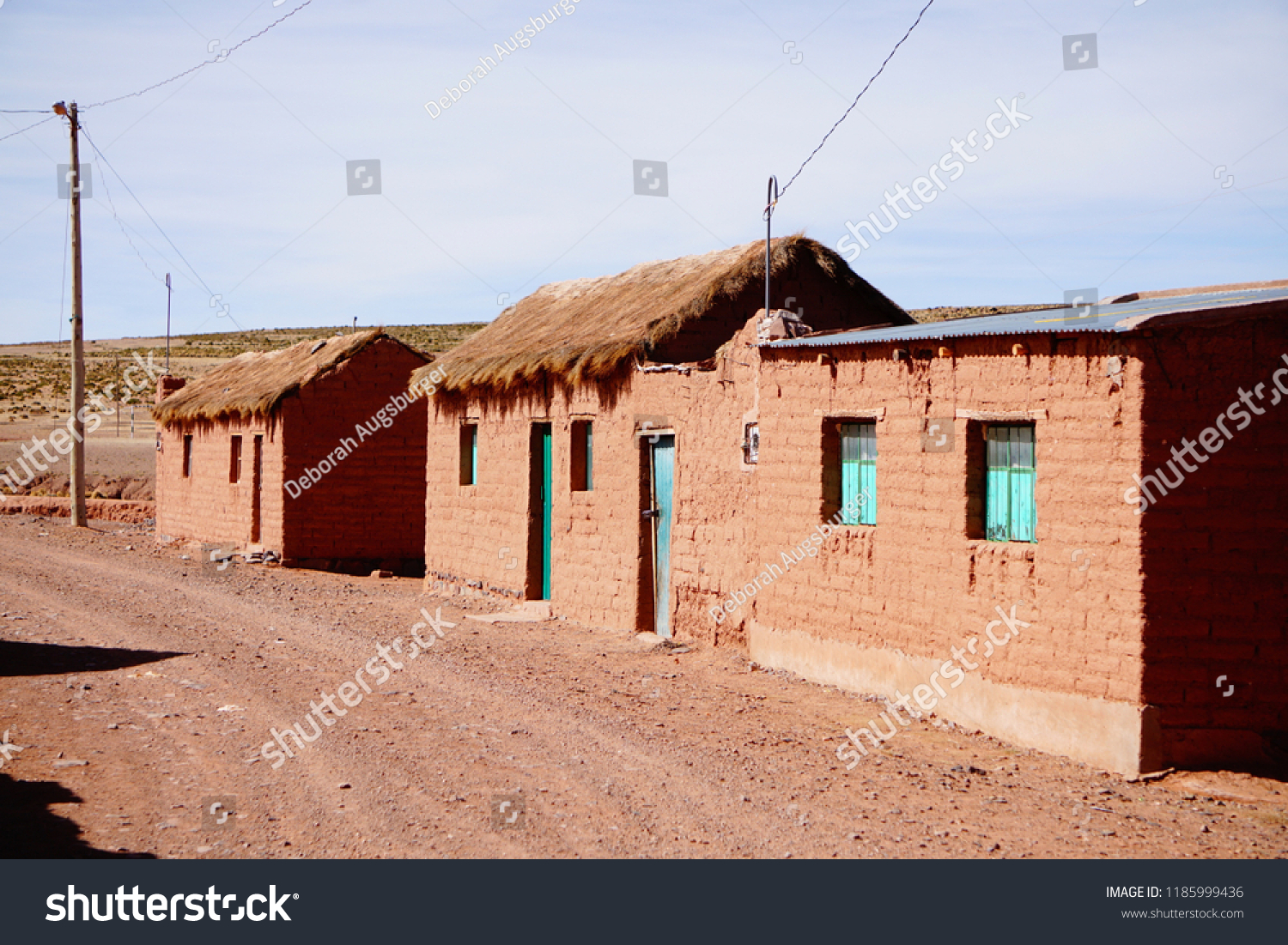 Simple Small Houses Village On Bolivian Stock Photo Edit Now
