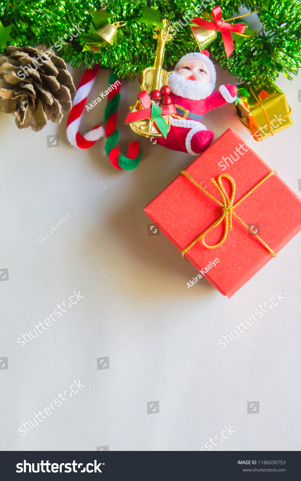 Christmas Symbols Colorful Red Box Gift Stock Photo (Edit Now ...
