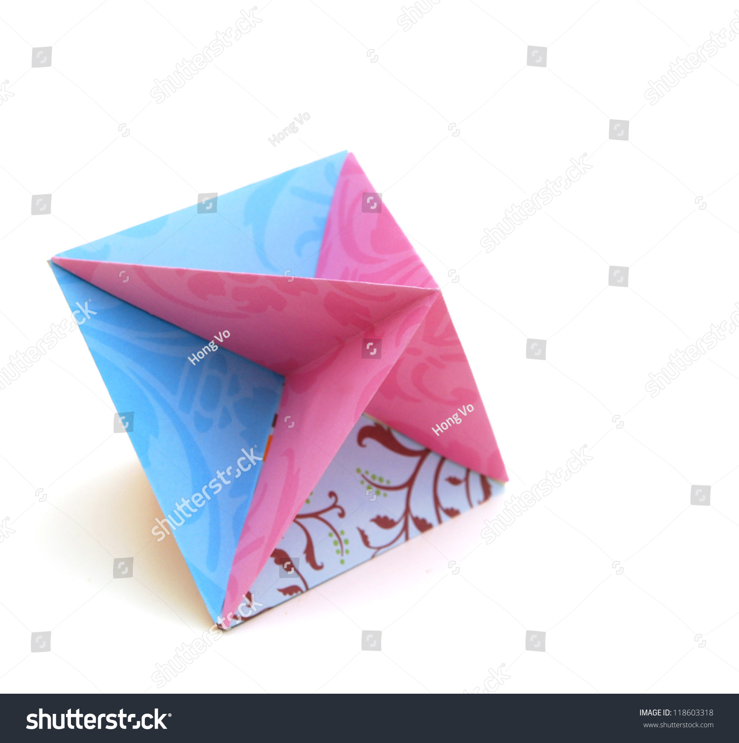 Colorfull Origami Unit Colorful Cube Flower Stock Photo Edit Now