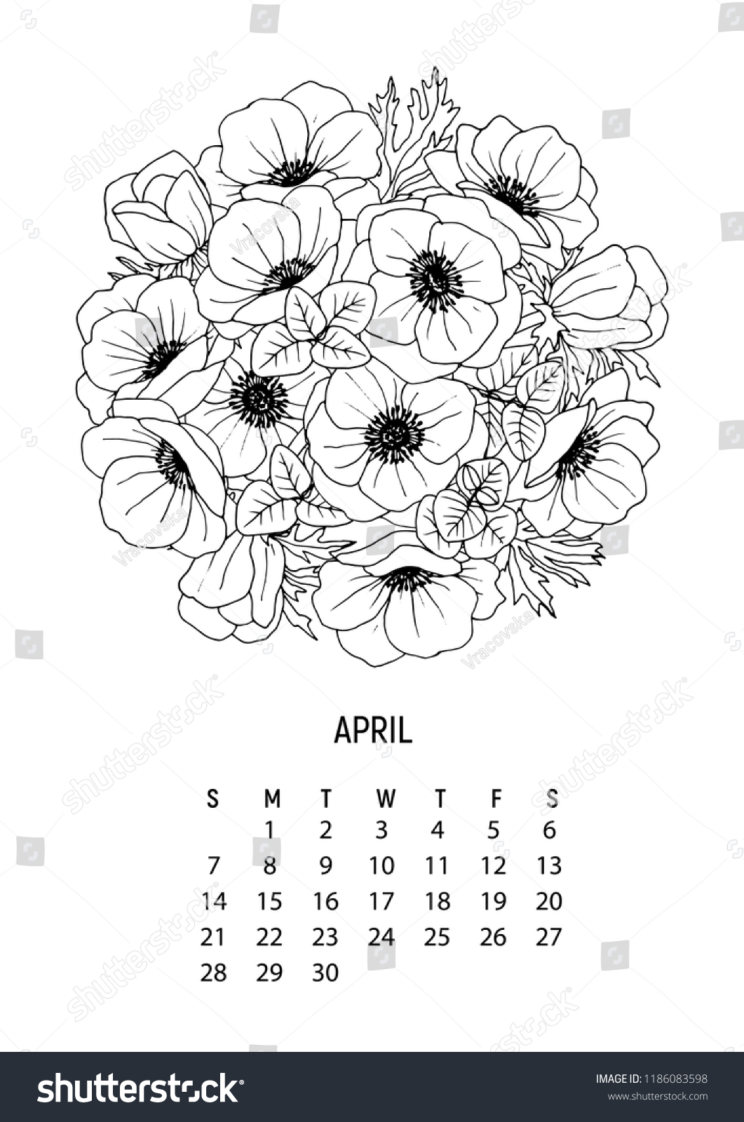 December Calendar 2019 Coloring Pages Printable | 1600x1061