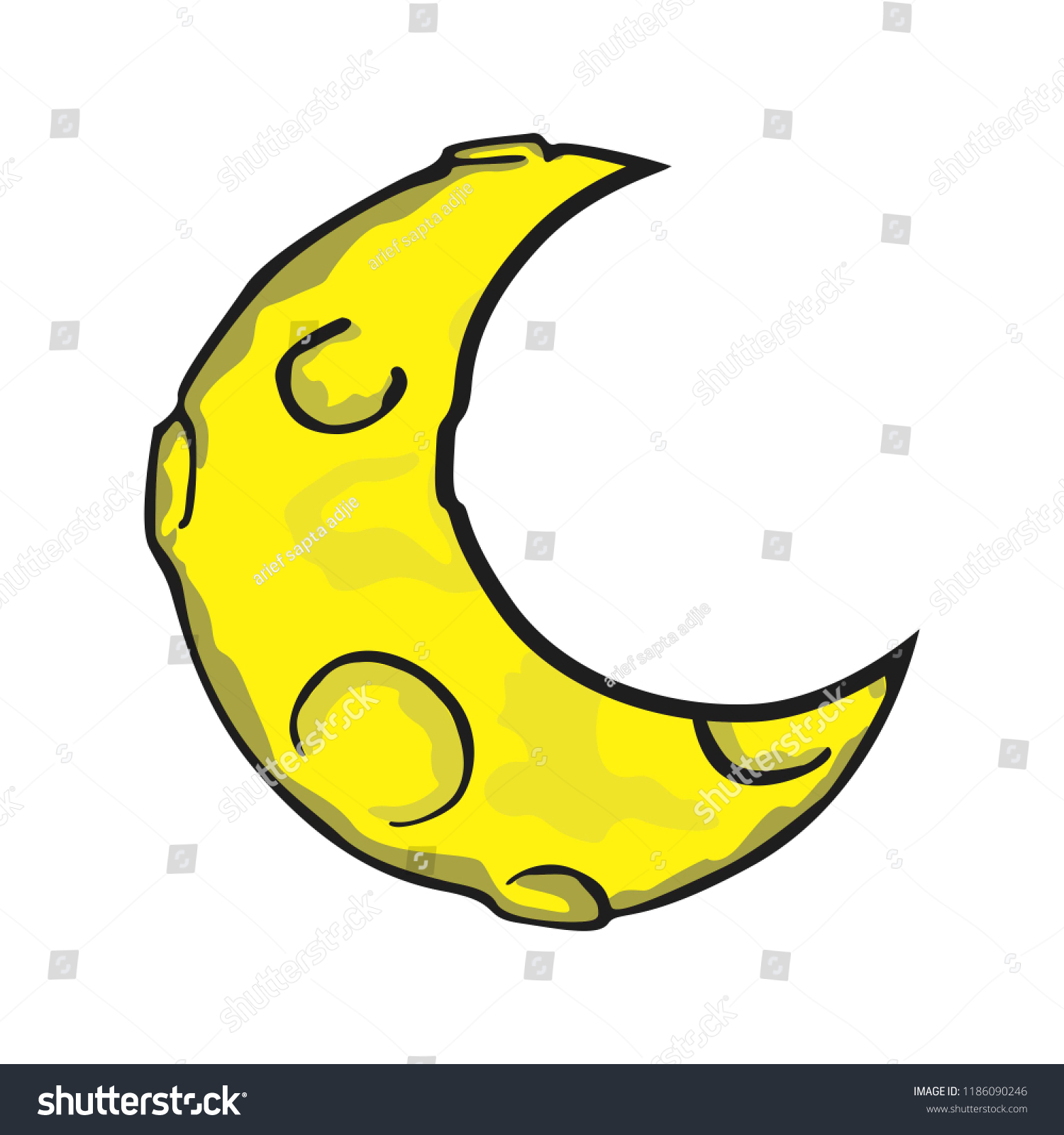 crescent moon vector stock vector royalty free 1186090246 https www shutterstock com image vector crescent moon vector 1186090246