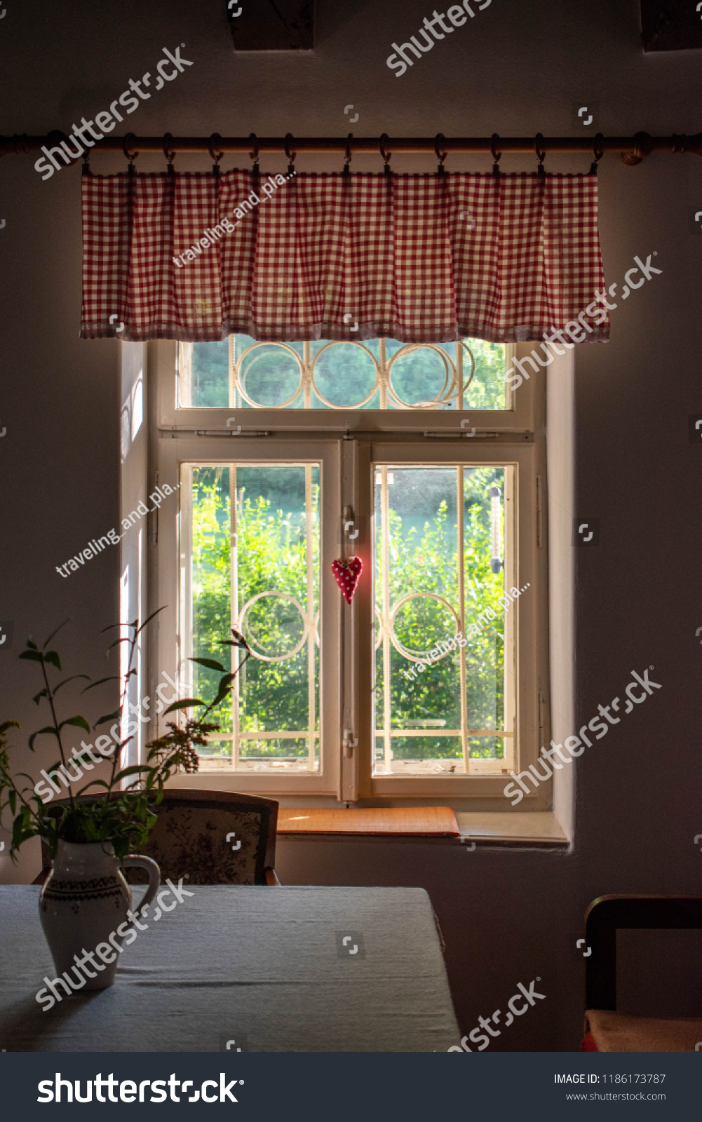 Beautiful Traditional Cottage White Wooden Window Stock Photo Edit Now 1186173787